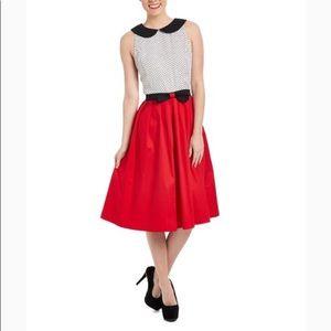 Lindy Bop red/white Emmy A-line Dress NWT